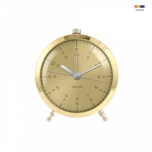 Ceas de masa maro alama din metal 9 cm Button Present Time