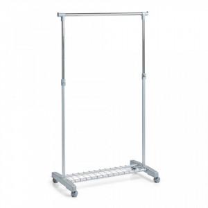 Suport gri/argintiu din metal si plastic 170 cm pentru umerase Roll Clothes Rack Zeller