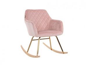 Balansoar roz din catifea si fier Rocky Pink Richmond Interiors