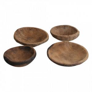 Bol decorativ maro din lemn Tribal Raw Materials