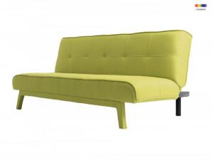 Canapea extensibila verde din poliester si lemn pentru 2 persoane Modes Spring Green Custom Form