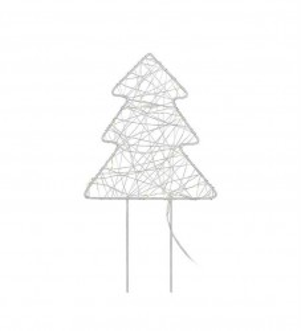 Decoratiune luminoasa LED argintie din metal Gardener Tree Markslojd