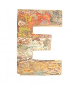 Decoratiune multicolora din lemn 18 cm E Raw Materials
