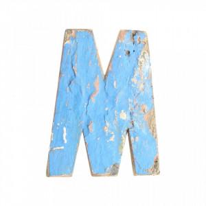 Decoratiune albastra din lemn 18 cm M Raw Materials