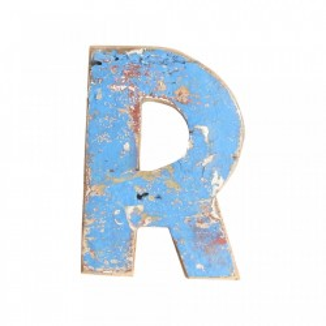 Decoratiune albastra din lemn 18 cm R Raw Materials