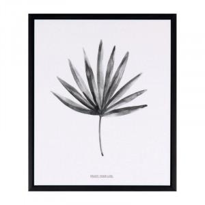 Tablou alb/negru din MDF si polistiren 25x30 cm Palma Somcasa