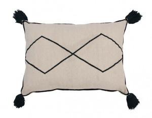 Perna decorativa dreptunghiulara crem/neagra din bumbac 40x55 cm Bereber Lorena Canals