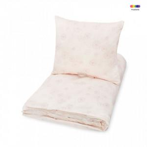 Lenjerie pat roz din bumbac 100x140/40x45 cm Dandelion Rose Cam Cam