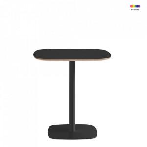 Masa neagra din otel si linoleum 70x70 cm pentru cafea Form Normann Copenhagen