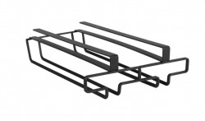Suport 6 pahare negru din metal pentru raft Cabinet Glass Holder Wenko