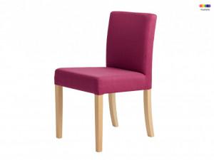 Scaun dining roz din lemn si poliester Wilton Candy Pink Custom Form