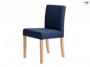 Scaun dining albastru din lemn si poliester Wilton Inkjet Custom Form