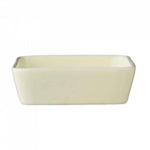 Vas galben din ceramica 13,5x13,5 cm Alberte Bloomingville