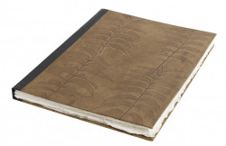 Agenda maro/neagra din piele 34x45 cm Leaves Leather Big Nordal