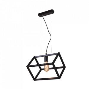 Lustra neagra din metal Cube Single Aldex