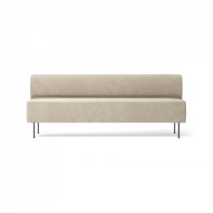 Canapea crem din textil si otel 200 cm Eave Moss Menu