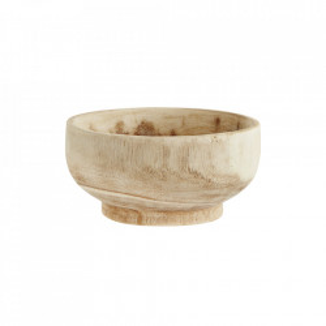 Bol maro din lemn 20 cm Paulownia Bowl Madam Stoltz