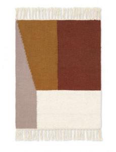 Covor multicolor din lana si bumbac 50x70 cm Kelim Borders Ferm Living