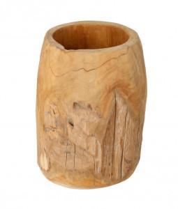 Ghiveci decorativ maro din lemn de tec 40 cm Oriole La Forma