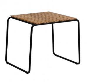Masa dining neagra/maro din lemn de salcam pentru exterior 70x84 cm Yukai La Forma