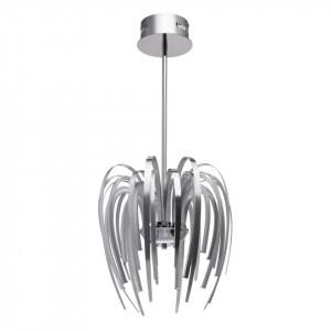 Lustra argintie din metal si plastic cu 16 LED-uri Regen Umbrella MW Glasberg
