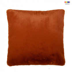 Perna decorativa patrata din poliester 50x50 cm Lyall Leather Brown LifeStyle Home Collection