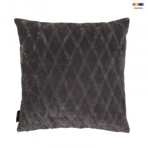 Perna decorativa patrata gri din bumbac 50x50 cm Dascha Volcanic Grey LifeStyle Home Collection