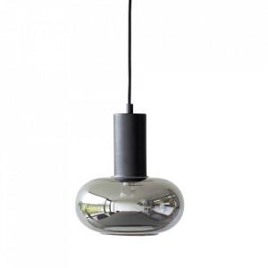 Lustra neagra din sticla si metal Mirror Lamp Hubsch