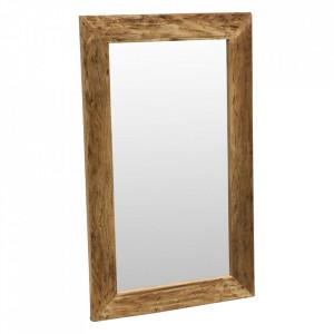 Oglinda dreptunghiulara maro din lemn si sticla 60x100 cm Farm Raw Materials