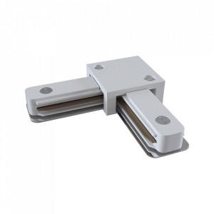 Conector electric alb din plastic cu 2 iesiri pentru sina Track Accesory White Two Maytoni