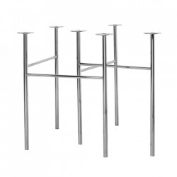 Set 2 picioare din metal pentru masa Mingle Avi Chrome Ferm Living