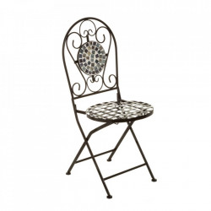 Scaun pliabil multicolor din metal si ceramica pentru exterior Dainty Chair Unimasa