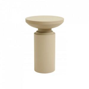 Masuta bej din metal 35 cm Pillar Sanded Nordal