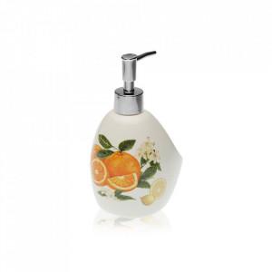 Dispenser sapun lichid multicolor din dolomita 11,3x18 cm Citrus Fruits Versa Home