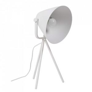 Lampa birou alba din metal 60 cm Sonella Somcasa
