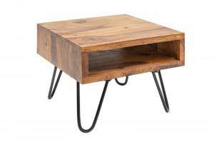 Masuta maro/neagra din lemn si metal 35x45 cm Scorpion Side Invicta Interior