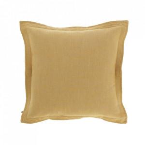 Fata de perna galbena din textil 45x45 cm Maelina La Forma