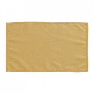 Set 4 protectii masa dreptunghiulare galbene din textil 30x50 cm Samay La Forma