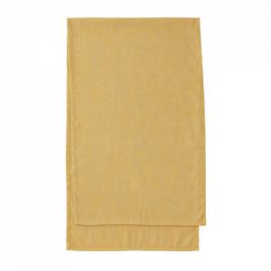 Traversa masa galbena din textil 50x160 cm Samatay La Forma