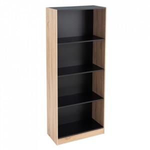 Biblioteca maro/neagra din MDF 147 cm Pernille Unimasa