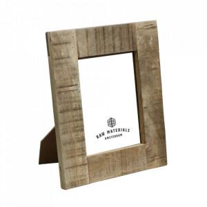 Rama foto dreptunghiulara maro din lemn de mango 13x18 cm Vintage Raw Materials