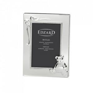 Rama foto dreptunghiulara din metal argintat 9x13 cm Bim Edzard