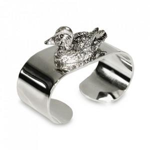 Set 4 inele din otel argintat pentru servetele Ente Edzard