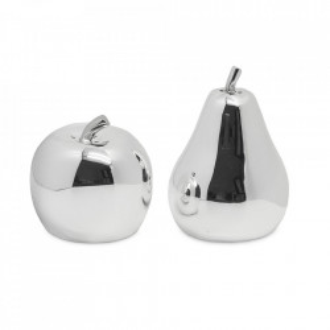 Set solnita si pipernita din metal argintat Apple Edzard