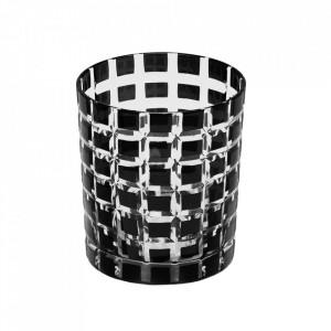 Set 4 pahare negre din sticla Marco Edzard