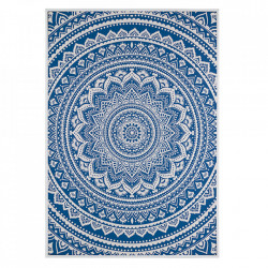 Tablou albastru din MDF 69x97 cm Blue Mandala Santiago Pons