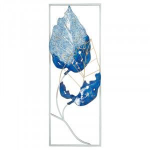 Decoratiune de perete albastra din fier 29x74 cm Hioka Santiago Pons
