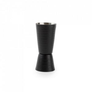 Pahar negru din inox pentru masurat 60 ml Black Bar Aerts
