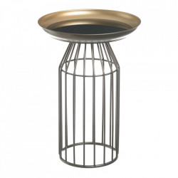 Masuta cafea rotunda din metal 36 cm Tall Stripes Ixia