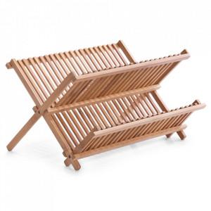 Suport pliabil maro din lemn pentru vase Velez Zeller